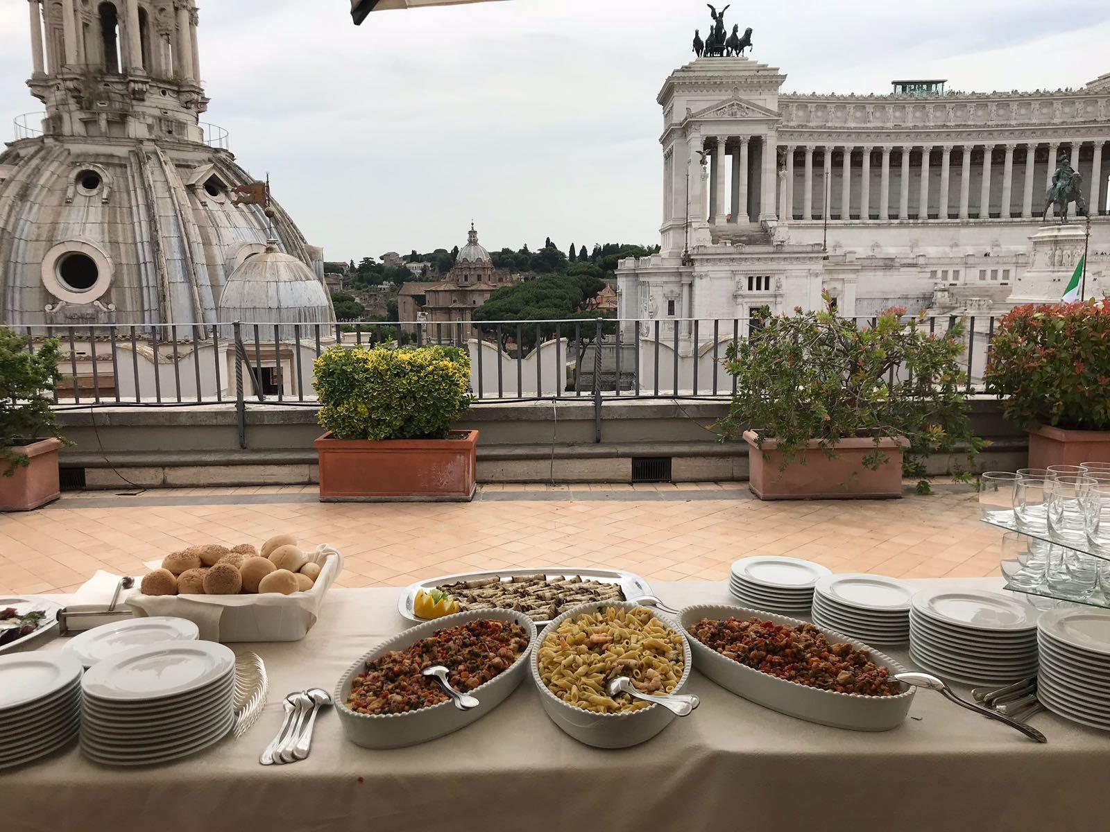 Evento aziendale Piazza Venezia Roma