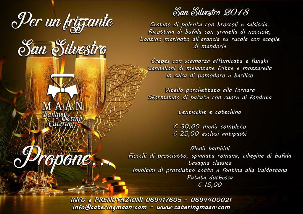 catering Roma capodanno 2018 menu