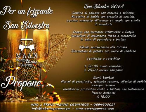 Catering Roma Capodanno: speciale San Silvestro 2018