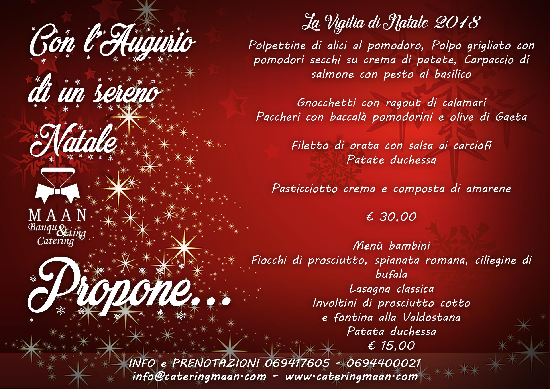Menu Di Natale A Roma.Catering Vigilia Di Natale 2018 Maan Catering Banqueting