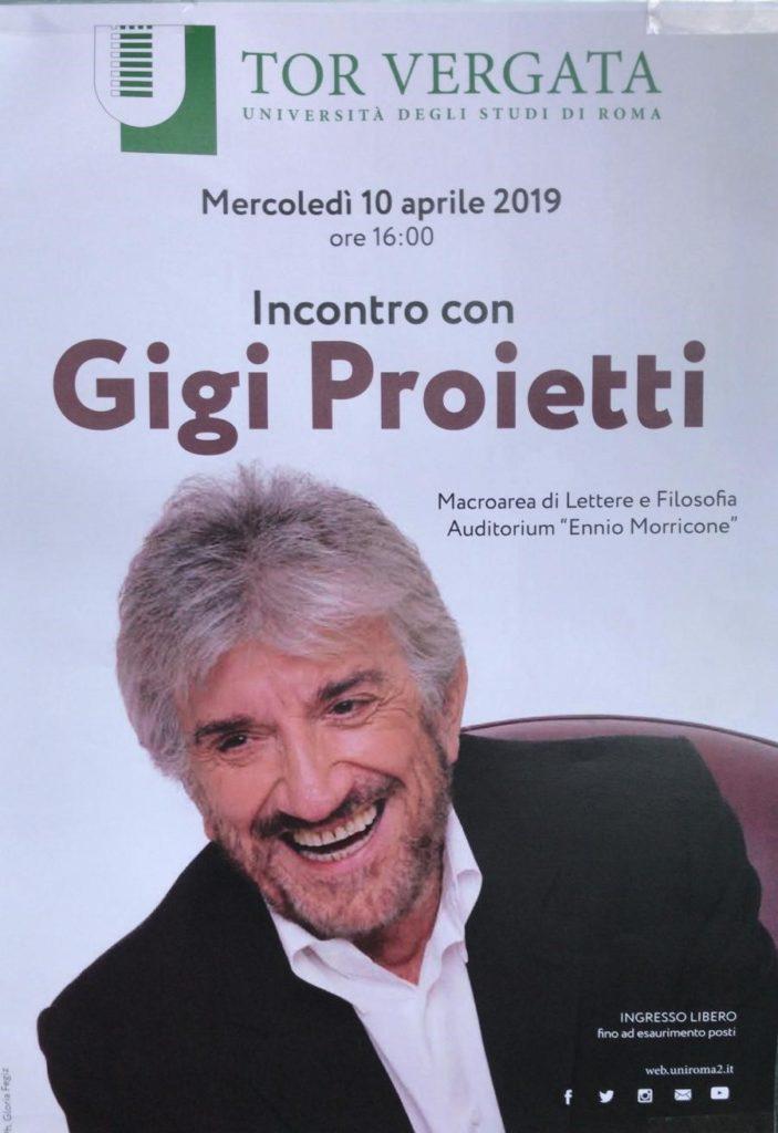 Incontro con Gigi Proietti - Università Tor Vergata Aprile 2019